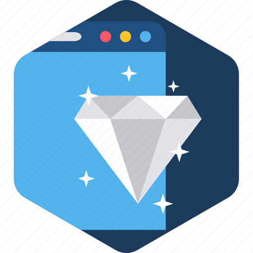 diamond, page, quality, rate, rating, web, website icon
