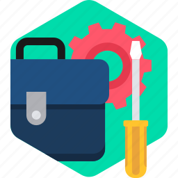 briefcase, business, configuration, office, settings, tools, work icon