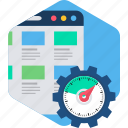 design, load, page, process, time, web, website icon