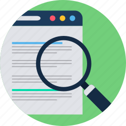 design, document, page, search, web, website icon