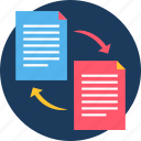 copy, document, file, format, page, paper, paste icon