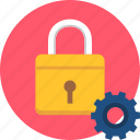 lock, key, settings, security, protection, setting, gear