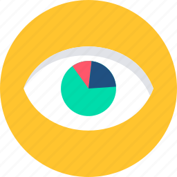 business, chart, diagram, eye, graph, marketing, seo icon