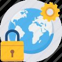 lock, globe, global, settings, setting, gear, options