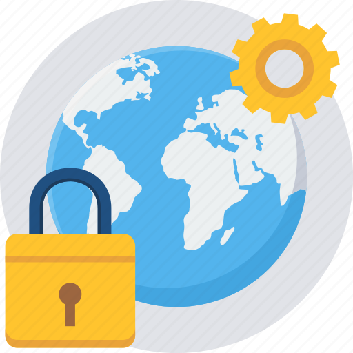 gear, global, globe, lock, options, setting, settings icon