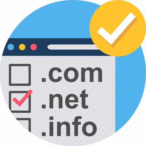 .com, .info, .net, internet, links, web icon