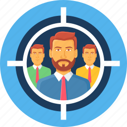audience, man, people, person, profile, target, user icon