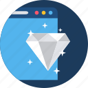 design, diamond, document, page, quality, web, website icon