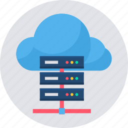 cloud, computing, data, database, network, server, storage icon