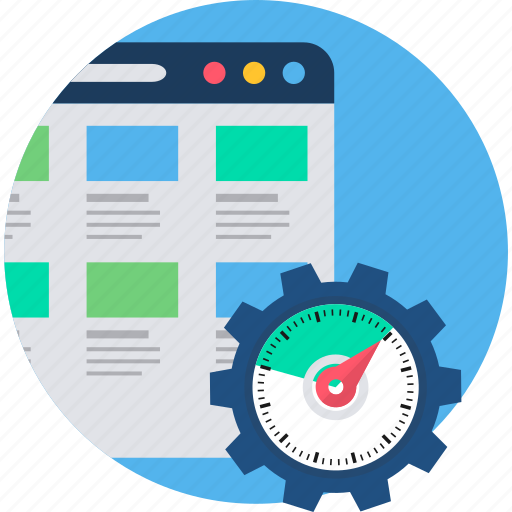 document, load, page, speed, time, web icon