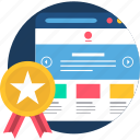 document, first, page, rate, rating, web, website icon