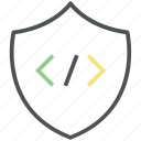 code insurance, code protection, code safety, html protection, security code icon