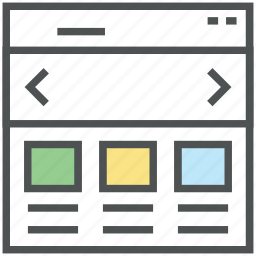 frontend, layout, template, web design, web layout, web page, web portions, web structure icon