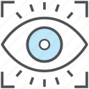 eye, eye focus, eyeball, human eye, retina, view icon