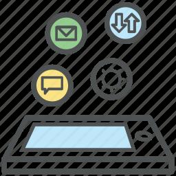 business, communication, m commerce, mobile application, mobile marketing, phone marketing icon