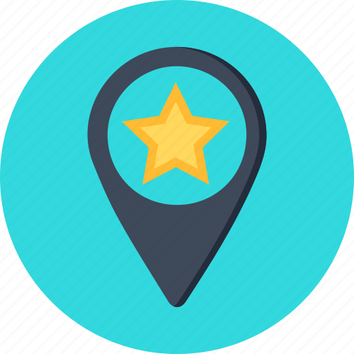 gps, map, optimization, pin, places, pointer, star icon