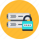 backup, data, lock, password, security, seo, server icon