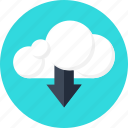 cloud, data, download, files, information, server, web icon