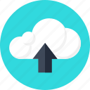 cloud, data, files, information, server, storage, upload icon