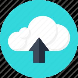 cloud, data, files, information, server, storage, upload icon