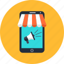 advertising, marketing, mobile, seo, shop, smartphone, web icon