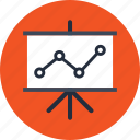 analysis, diagram, graph, presentation, seo, staff, training icon