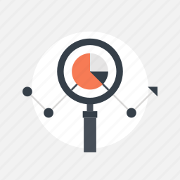 analysis, analytics, business, chart, data, finance, glass, graph, growth, information, magnifier, magnifying, management, optimization, report, research, search, seo, statistics, success, technology, tool icon