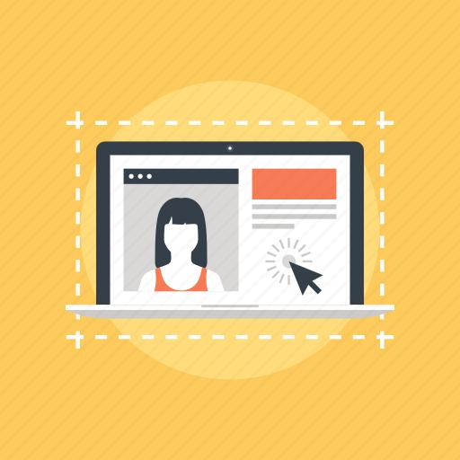account, app, application, computer, design, development, experience, interface, laptop, menu, page, program, site, software, technology, template, ui, user, ux, web, website icon