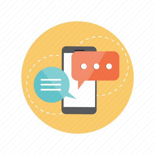 chat, communication, conversation, interaction, smartphone icon