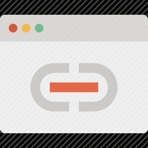 address, connection, hyperlink, internet, link, network, web icon