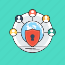 information security, network integration, network protection, network security, web security icon