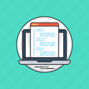 html, programming interface, source code, web code, web development icon