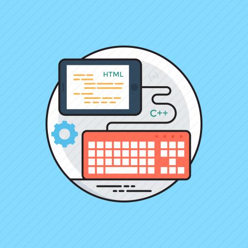 html, javascript, php, programming language, web development icon