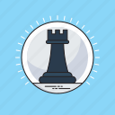chess, chess piece, chess rook, game, strategy icon