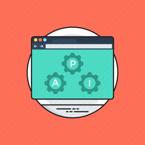 api integration, application programming interface, software application, software development process, web development icon
