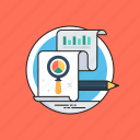 analytics and research, application statistics, marketing analytics, marketing research, search engine optimization icon
