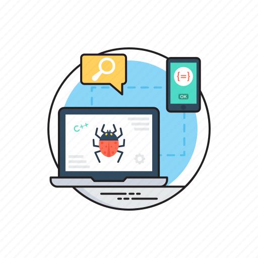 bug fixing performance, bug verification testing, qa and bug fixing, quality assurance and testing, testing and bug fixing icon
