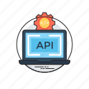 api integration, application programming interface, software application, software development process, web development icon