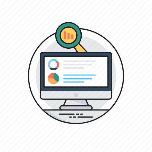 analytics, analyzing, business intelligence, marketing data, reporting service icon
