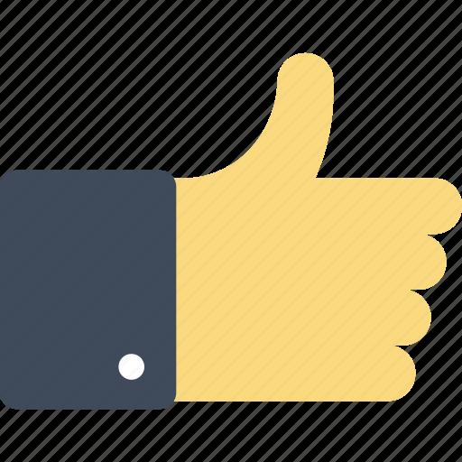 agree, favorite, gesture, good, like, thumb up, vote icon