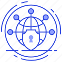 global protection, global security, network protection, network security, world wide security icon