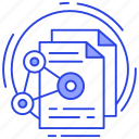 content sharing, data send, data sharing, file sharing icon