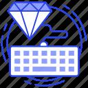 clean code, custom development, html, programming, seo icon