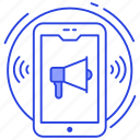 advertising, digital marketing, marketing, mobile ads, mobile marketing, publicity icon
