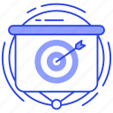aim, business goal, goal, objective, target icon