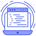 blogging, web content, web grid, web layout, wireframe icon