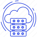 cloud computing, cloud data, cloud hosting, cloud server, network server icon