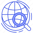 global exploration, global search, international search, universal search, worldwide searching icon