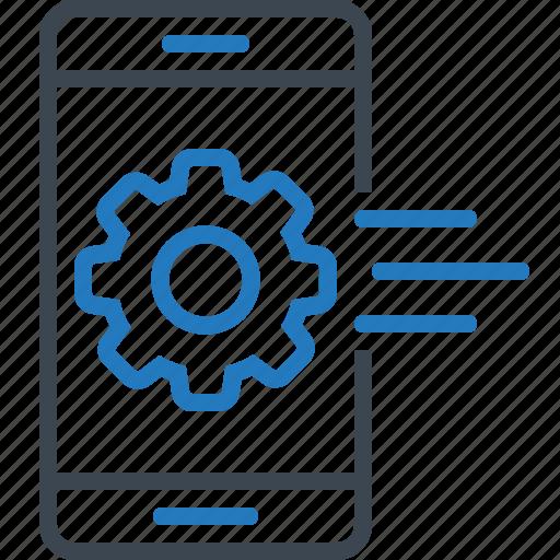 app, development, mobile, setting icon