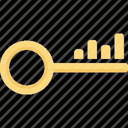 key, keyword, optimization, rank, search, seo, word icon